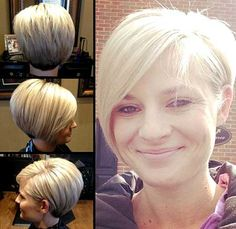 nice Idée coupe courte : Long layered asymmetrical pixie by CCovey. Short Blonde Haircuts, Cute Hairstyles For Short Hair, My Hairstyle, Pretty Hairstyles, Short Hair Cuts, Bob Hairstyles, Short Hair Styles, Bob Haircuts, Cut My Hair