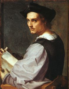 Andrea del Sarto: Portrait de jeune homme,1517, possibly a self-portrait. National Gallery, London.