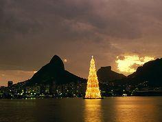 Christmas Tree on water