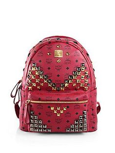 """#loveeeee buying this before my travel season 2014   MCM Stark """"M Stud"""" Backpack"""