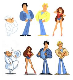 The Dukes of Hazzard as cartoons characters