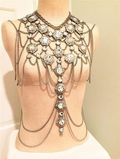 Shoulder Jewelry. Body Harness. Shoulder Chains. Fashion Body