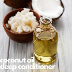Add life and shine back into your hair with this super easy and inexpensive homemade Coconut Oil Hair Mask. Only 3 ingredients.