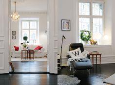 white walls dark floors - Google Search