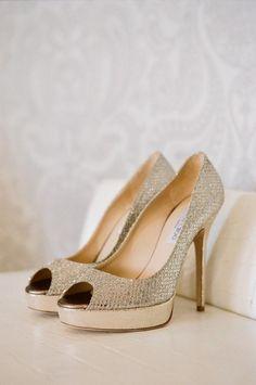 Chaussures en cuir de mariage Glitter ♥ Jimmy Choo Chaussures de mariée Collection