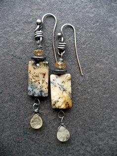MELTEDhandmade gemstone and sterling silver by livewirejewelrysb, $46.00