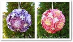 Pompones de flores para fiestas | Ideas para Decoracion