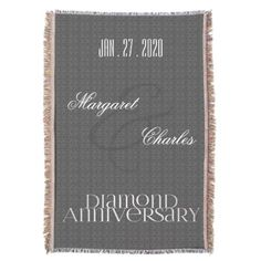 60th Diamond Wedding Anniversary | Custom Throw - click/tap to personalize and buy