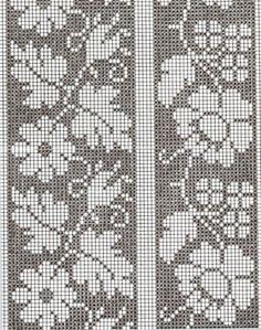 "Вязание. Жаккард - ""Зимняя радуга""   ВКонтакте Filet Crochet Charts, Crochet Diagram, Knitting Charts, Crochet Stitches, Embroidery Stitches, Knitting Patterns, Cross Stitch Borders, Cross Stitch Flowers, Cross Stitch Designs"