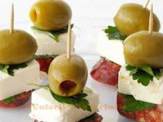 Chorizo, Feta Cheese and Olive Tapas