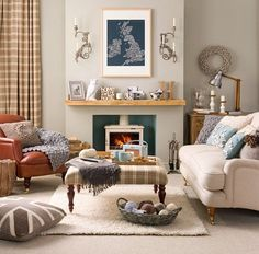 french country living rooms ottoman New Home Interior Design: Collection of Country Living Room Styles Room Design, Interior, Country Living Room Design, New Living Room, Beige Living Rooms, House Interior, Living Room Styles, Cosy Living Room, Country Living Room
