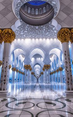 The Mosque - Sheikh Zayed, Abu Dhabi, Dubai ~ by Julian John Abu Dhabi, Mosque Architecture, Art And Architecture, Ancient Architecture, Beautiful Architecture, Beautiful Buildings, Beautiful Mosques, Beautiful Places, Mekka