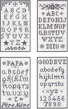 Cross-stitch - Alphabet