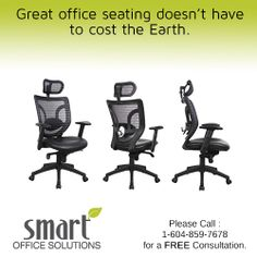 What do you look for when you go shopping for office chairs? Call Smart today and save upto on remanufactured furniture. Office Chair Price, Office Chairs, Smart Office, Office Seating, Go Shopping, Office Furniture, Abs, Home Decor, Crunches