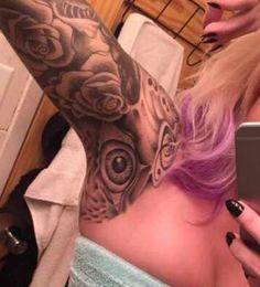 Finish arm pit tattoos