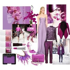 """Pantone Color of the Year 2014: Radiant Orchid"" by melissa-reyna on Polyvore"