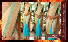 Doll up in this designer saree for the upcoming festivities!! <3  To join our whatsapp client group pls inbox or leave a msg on +919600639563 or +919751223000  To buy this product pls call or whatsapp us at +919600639563 for booking.