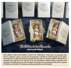 Souvenirs Bautismo, Comunión - Niño Dios en porcelana fría