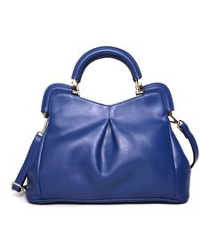 Look at this Segolene En Cuir Blue Florrie Leather Tote on #zulily today!