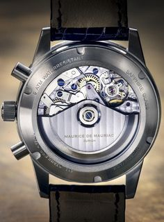 The mechanism of a bespoke Maurice de Mauriac watch. High quality watches for men and women.