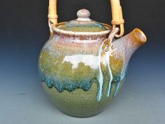 Hand Thrown, Kiln Fired LargeTeapot by darshanpottery on Etsy, $140.00