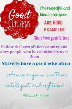 20 ways you can be a good citizen now!WhollyART