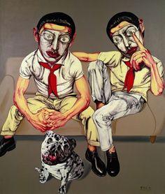 Zeng Fanzhi-Mask. Art Experience:NYC http://www.artexperiencenyc.com/social_login