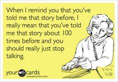 just stop talking.......