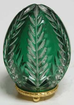 CASED PETITE EGG-GREEN - No Box in Faberge Crystal Egg by Faberge