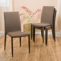 Christopher Knight Home Comstock Fabric Stackable Dining Chair (Set of 4) | Overstock.com Shopping - The Best Deals on Dining Chairs