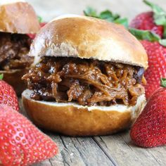 Slow Cooker Strawberry Chipotle BBQ Pulled Pork