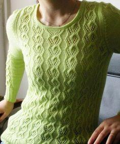 Красивые узоры для кофточек пуловеров и кардиганов спицами