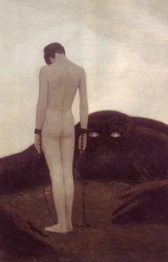 mudwerks:  (via The Emotion of Dependency - 50 Watts)  Sascha Alexander Schneider (German, 1870-1927), Emotion of Dependency.