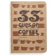 33 Books Co. '33 Cups of Coffee' Journal found on Polyvore featuring home, home decor, stationery, books, fillers, notebooks and brown