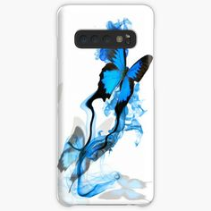 'Blue butterfly' Case/Skin for Samsung Galaxy by knovadesign Blue Butterfly, Phone Covers, It Works, Finding Yourself, My Arts, Samsung Galaxy, Art Prints, Printed, Awesome