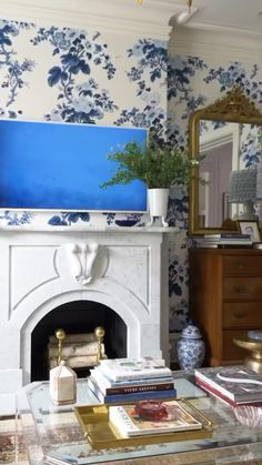 Blue Home Decor, Living Room Decor, Living Rooms, Living Room Inspiration, Home Staging, Home And Living, Decor Styles, House Design, Family Rooms