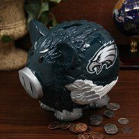 Philadelphia Eagles Large Resin Thematic Piggy Bank-pigs can fly! xD