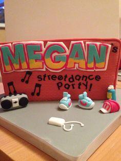 Street dance cake