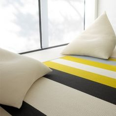 Avenue carpet, stone-yellow  Manufacturer: Woodnotes  Design: Ritva Puotila