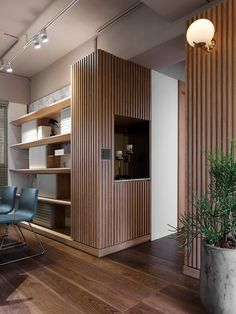 Modern ideas for Home design and decor Wood Interior Design, Interior Design Living Room, Living Room Designs, Furniture Design, Interior Decorating, Home Office Design, House Design, Casa Milano, Wood Slat Wall