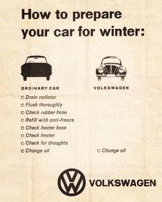 Had no trouble starting mine up, in winter, while others were having some problems. Car Volkswagen, Vw Cars, Vespa, Vw Classic, Vw Group, Beetle Convertible, Vw Vintage, Car Advertising, Car Wheels