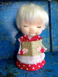 Shop for on Etsy, the place to express your creativity through the buying and selling of handmade and vintage goods. Vintage Tree Toppers, Blonde Boys, Old Toys, Choir, Kitsch, Vintage Toys, Holiday Crafts, Vintage Christmas, Angels