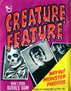 Topps Creature Feature trading card package (1973) You'll Die Laughing! / CollectingClassicMonsters.com