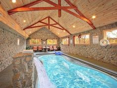 1000 images about cabins pools on pinterest indoor pools indoor swimming pools and log - Small log houses dream vacations wild ...