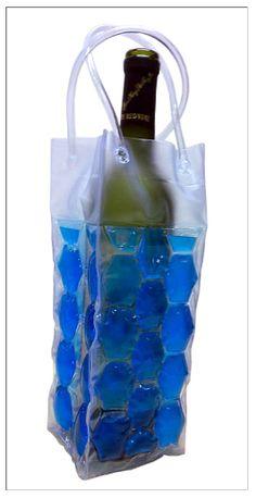 Cool Sack Wine Totes - Blue 4 Sided Gel Filled $7.95