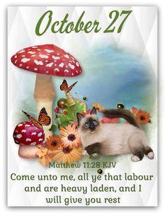 Daily Scripture, Scripture Verses, Scriptures, October Calender, Calendar, Powerful Bible Verses, Matthew 11 28, Come Unto Me