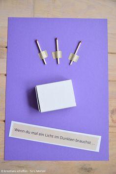 Inspirationen für dein Wenn-Buch in lila. Wenn du mal ein Licht im Dunkeln brauchst ...