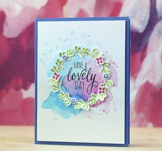 Gorgeous card created by Laura Bassen using Simon Says Stamp Exclusives.
