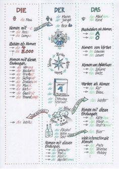 Artikelsystem Study German, German English, Learn German, Learn French, German Grammar, German Words, Teaching French, Teaching Spanish, Spanish Activities