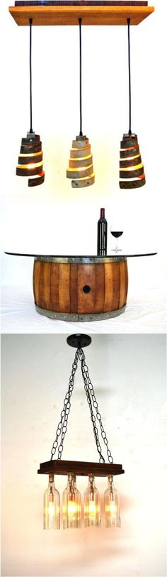 Gorgeous wine barrels are upcycled into stunning home decor pieces that will keep your guests chatting all night. Rustic design yet with a modern touch. These will make wow-worthy additions to most rooms in the house. | Made on Hatch.co by designers who care.